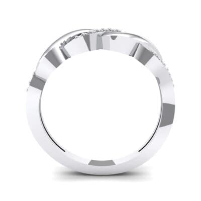 Pave Plume Crystal Ring (0.11 CTW) Side View