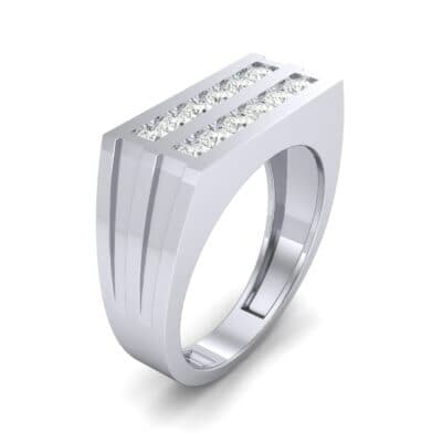 Inset Signet Diamond Ring (0.72 CTW) Perspective View