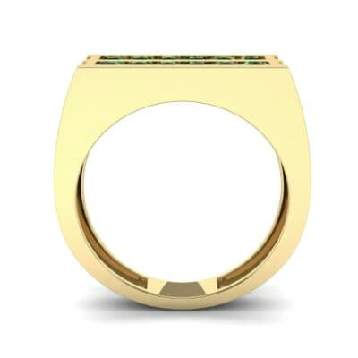 Inset Signet Emerald Ring (0.72 CTW) Side View