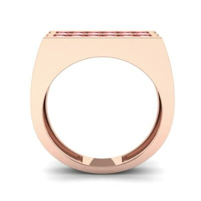 Inset Signet Ruby Ring (0.72 CTW) Side View