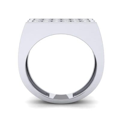 Inset Signet Diamond Ring (0.72 CTW) Side View