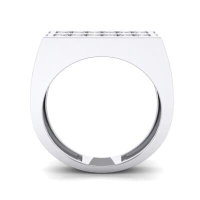 Inset Signet Crystal Ring (0.72 CTW) Side View