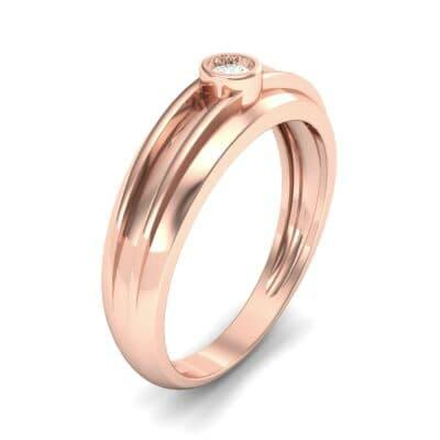Striped Bezel-Set Diamond Ring (0.1 CTW) Perspective View