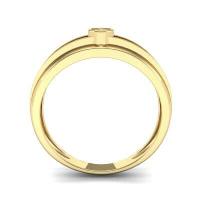 Striped Bezel-Set Diamond Ring (0.1 CTW) Side View