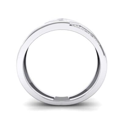 Pave Lock Crystal Ring (0.11 CTW) Side View