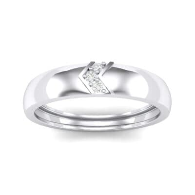 Pave Chevron Crystal Ring (0.03 CTW) Top Dynamic View