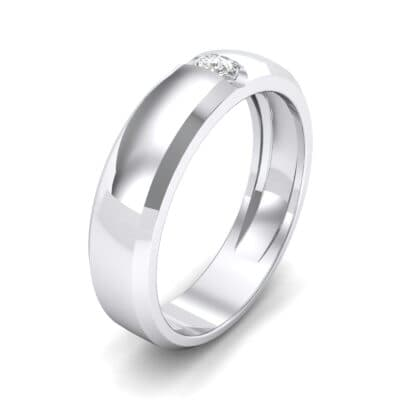 Solitaire Wedge Crystal Ring (0.06 CTW) Perspective View