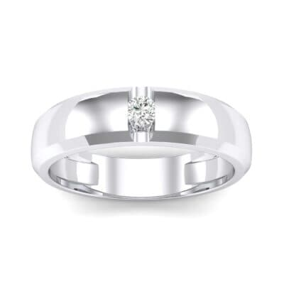 Solitaire Wedge Crystal Ring (0.06 CTW) Top Dynamic View