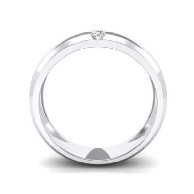 Solitaire Wedge Crystal Ring (0.06 CTW) Side View