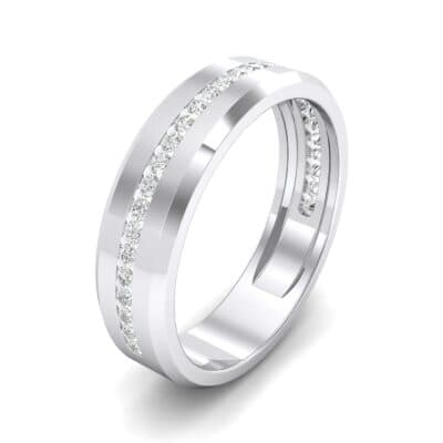 Channel-Set Line Crystal Ring (0.3 CTW) Perspective View