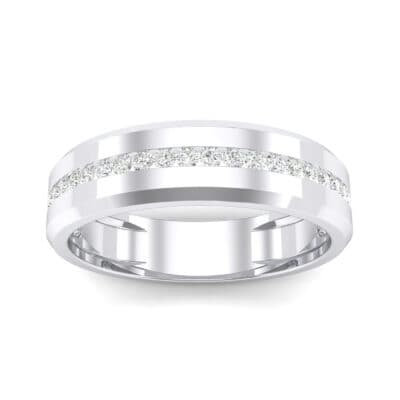 Channel-Set Line Crystal Ring (0.3 CTW) Top Dynamic View