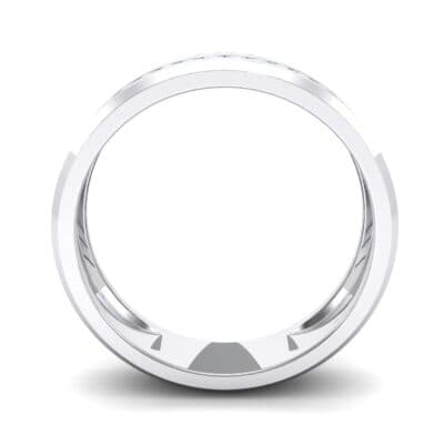 Channel-Set Line Crystal Ring (0.3 CTW) Side View