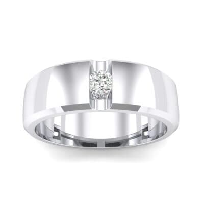 Wide Solitaire Wedge Crystal Ring (0.14 CTW) Top Dynamic View