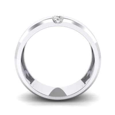 Wide Solitaire Wedge Crystal Ring (0.14 CTW) Side View