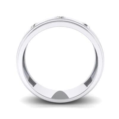 Three-Stone Bezel-Set Crystal Ring (0.33 CTW) Side View