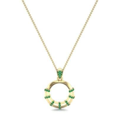 Sunbeam Emerald Pendant (0.18 CTW) Perspective View