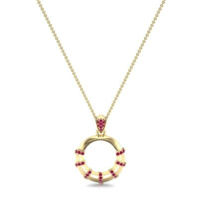 Sunbeam Ruby Pendant (0.18 CTW) Perspective View
