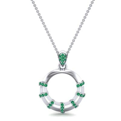 Sunbeam Emerald Pendant (0.18 CTW) Top Dynamic View