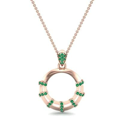 Sunbeam Emerald Pendant (0.18 CTW) Top Dynamic View