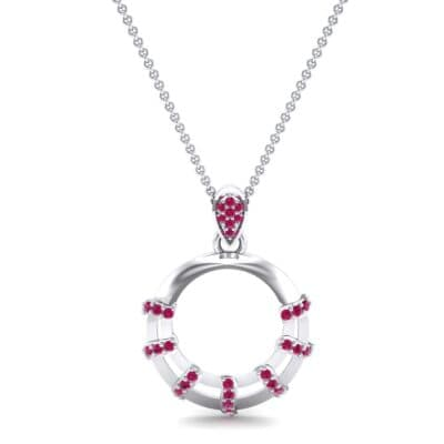Sunbeam Ruby Pendant (0.18 CTW) Top Dynamic View