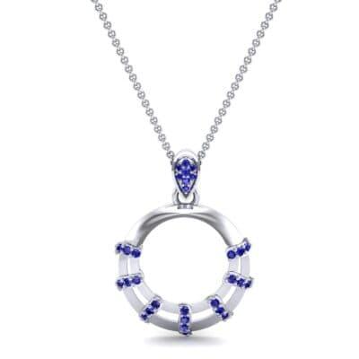 Sunbeam Blue Sapphire Pendant (0.18 CTW) Top Dynamic View