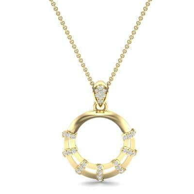 Sunbeam Diamond Pendant (0.18 CTW) Top Dynamic View