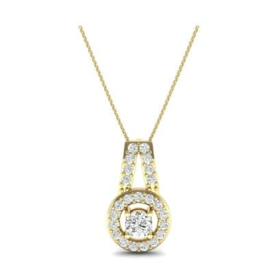 Pave Halo and Bail Diamond Pendant (0.4 CTW) Top Dynamic View