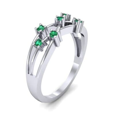 Barbwire Emerald Ring (0.12 CTW) Perspective View