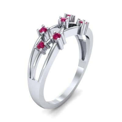 Barbwire Ruby Ring (0.12 CTW) Perspective View