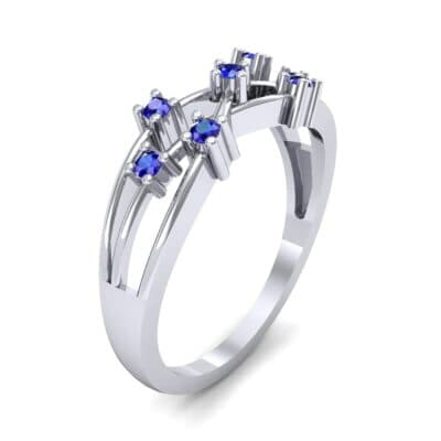 Barbwire Blue Sapphire Ring (0.12 CTW) Perspective View