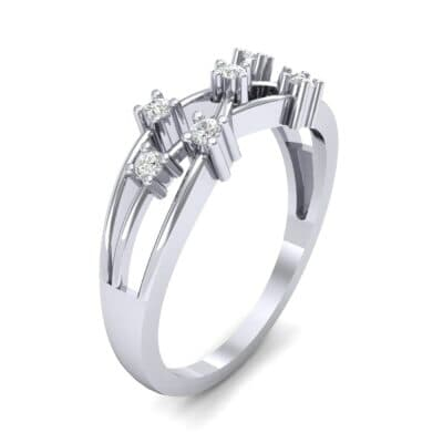 Barbwire Diamond Ring (0.12 CTW) Perspective View
