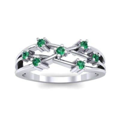 Barbwire Emerald Ring (0.12 CTW) Top Dynamic View