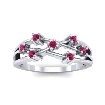 Barbwire Ruby Ring (0.12 CTW) Top Dynamic View