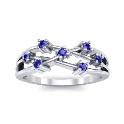 Barbwire Blue Sapphire Ring (0.12 CTW) Top Dynamic View