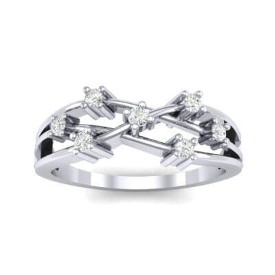 Barbwire Diamond Ring (0.12 CTW) Top Dynamic View