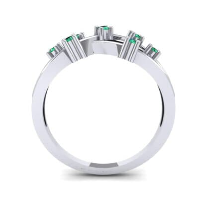 Barbwire Emerald Ring (0.12 CTW) Side View