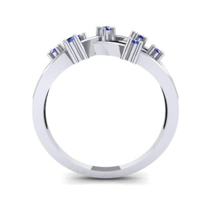 Barbwire Blue Sapphire Ring (0.12 CTW) Side View