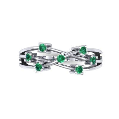 Barbwire Emerald Ring (0.12 CTW) Top Flat View