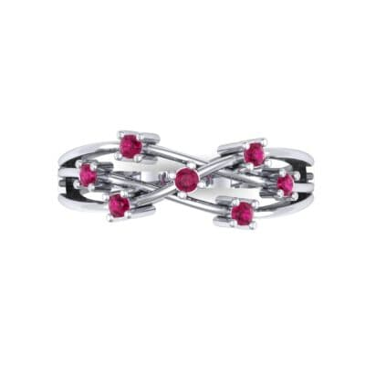 Barbwire Ruby Ring (0.12 CTW) Top Flat View