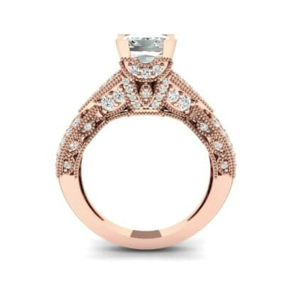 Beaded Palazzo Solitaire Diamond Engagement Ring (2.1 CTW) Side View