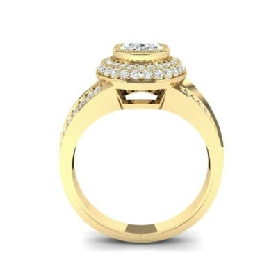 Victoria Bezel-Set Halo Diamond Engagement Ring (3.67 CTW) Side View