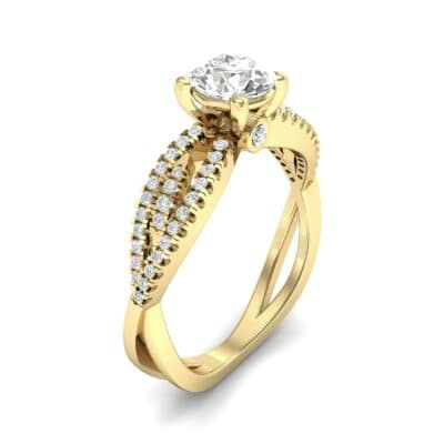 Countess Split Shank Solitaire Diamond Engagement Ring (1.03 CTW) Perspective View