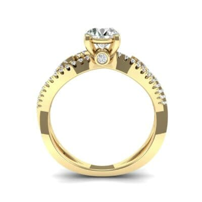 Countess Split Shank Solitaire Diamond Engagement Ring (1.03 CTW) Side View