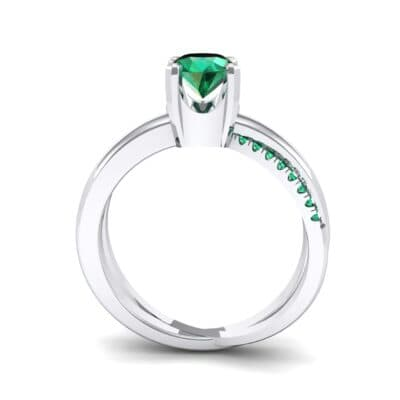 Galaxy Solitaire Emerald Engagement Ring (0.86 CTW) Side View