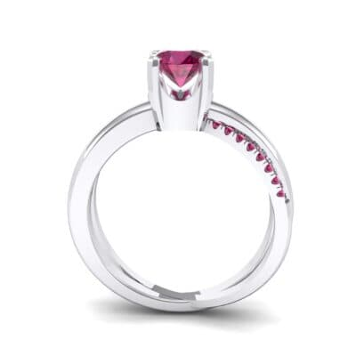 Galaxy Solitaire Ruby Engagement Ring (0.86 CTW) Side View