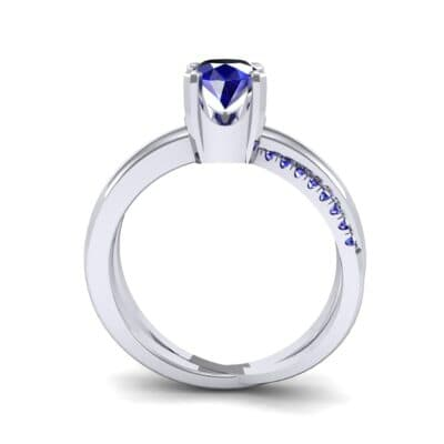 Galaxy Solitaire Blue Sapphire Engagement Ring (0.86 CTW) Side View