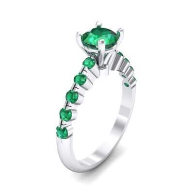 Bezel-Set Bubble Emerald Ring (0.78 CTW) Perspective View