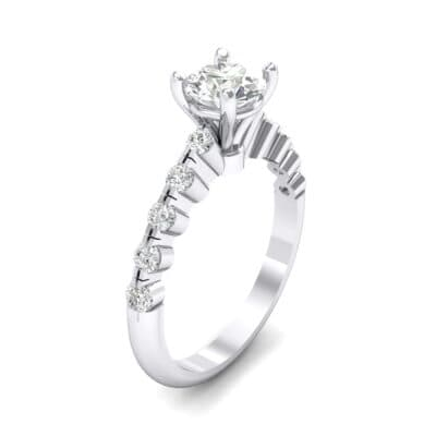 Bezel-Set Bubble Crystal Ring (0.78 CTW) Perspective View