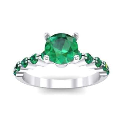 Bezel-Set Bubble Emerald Ring (0.78 CTW) Top Dynamic View