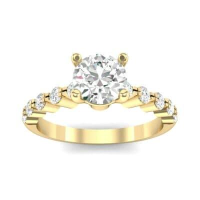 Bezel-Set Bubble Diamond Ring (0.78 CTW) Top Dynamic View